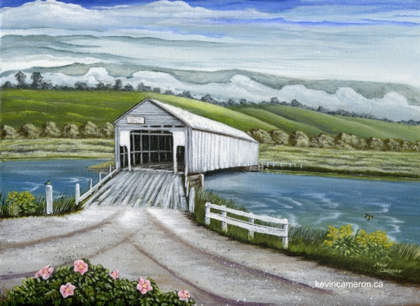 Avonport Covered Bridge, Kevin Cameron , Acrylic